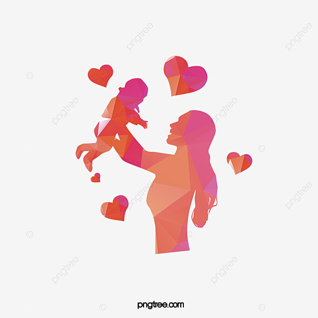 mother child red png image and clipart for free download