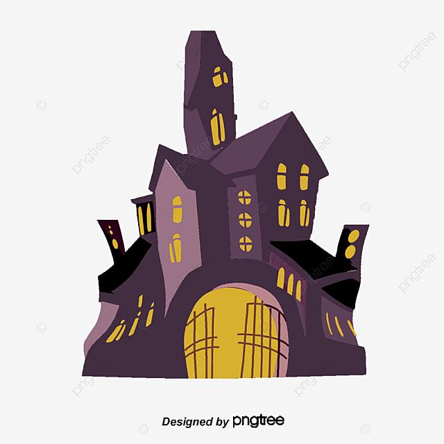 Casa embrujada casa embrujada cartoon pintado a mano png y - Cartoon haunted house pics ...