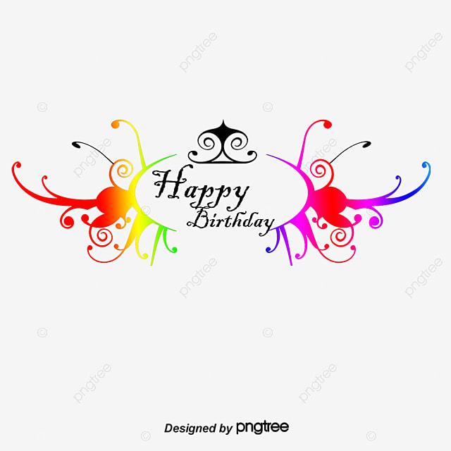 european decorative material birthday theme birthday clipart