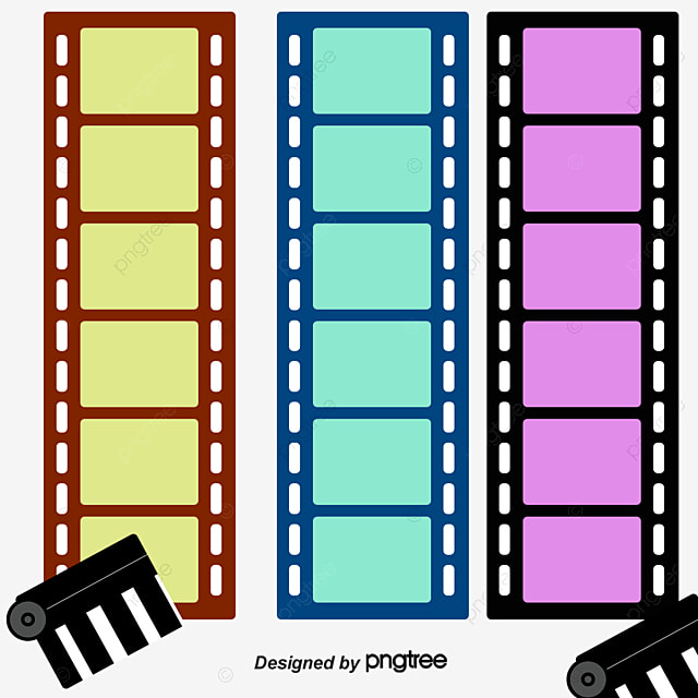 Fashion Film Filmstrip Background Material Fashion Vector Film
