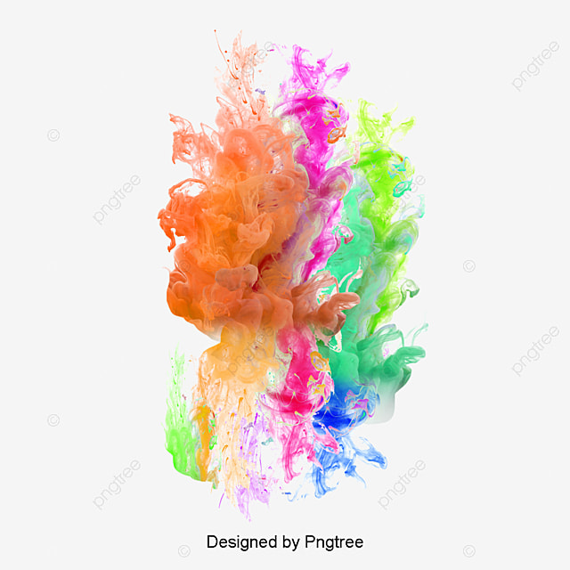 Colored Smoke Splash Float Colored Clouds Png Image For