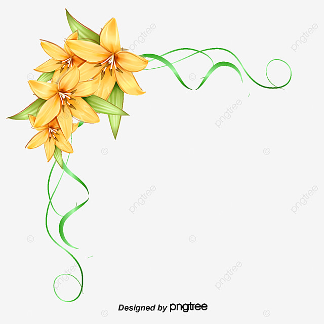 Flowers Corner Decoration PNG And Vector