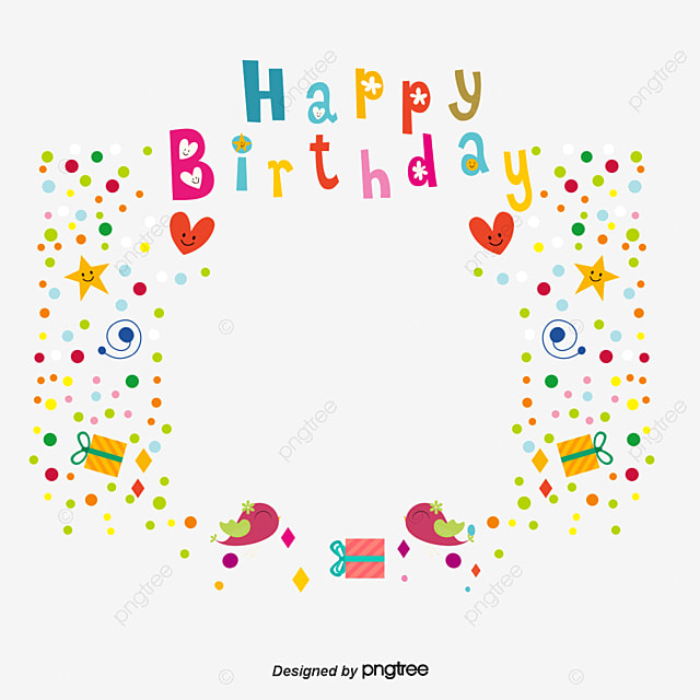 Happy Birthday Poster Background Shading Clipart Childrens PNG And