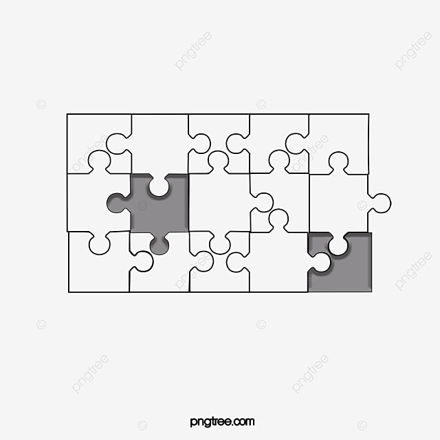 Jigsaw Material Effect Puzzle Grain Special PNG And PSD