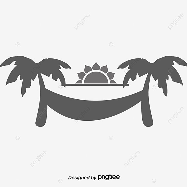 Beach Hammock Summer Chushu Free PNG And Vector
