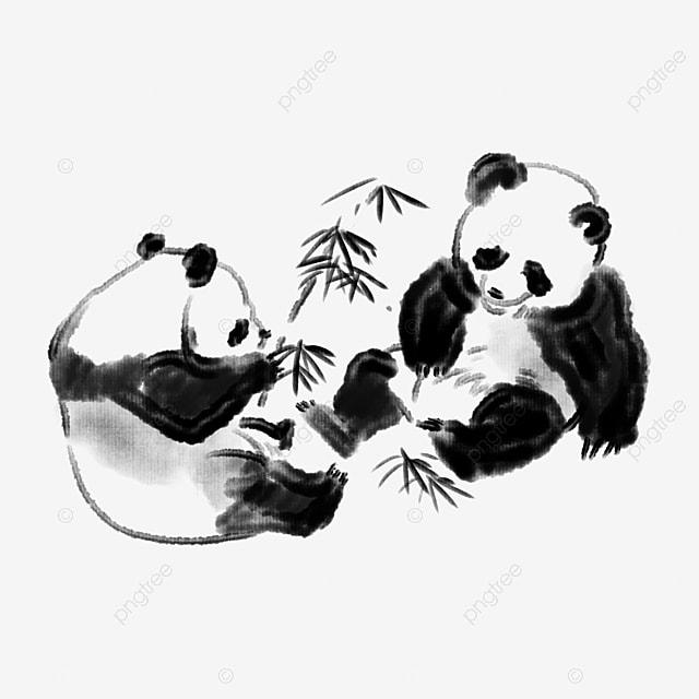 Joli dessin panda panda animal dessin image png pour le - Dessins de panda ...