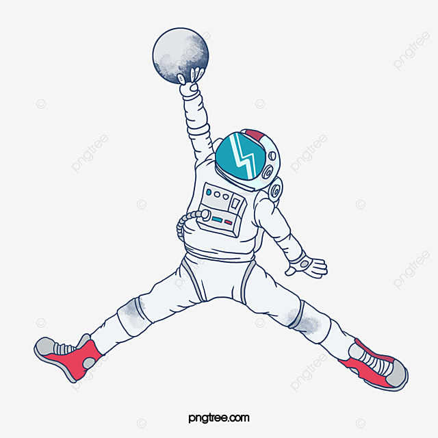 Astronaut Hand Painted Michael Jordan Classic PNG Image And Clipart
