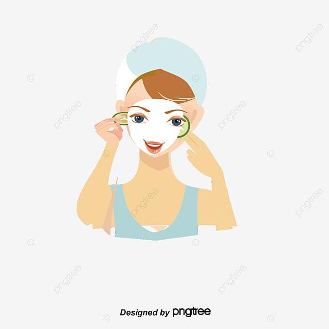 Beauty mask, Illustration Girl, Cartoon Beauty, Cartoon Girl PNG and Vector