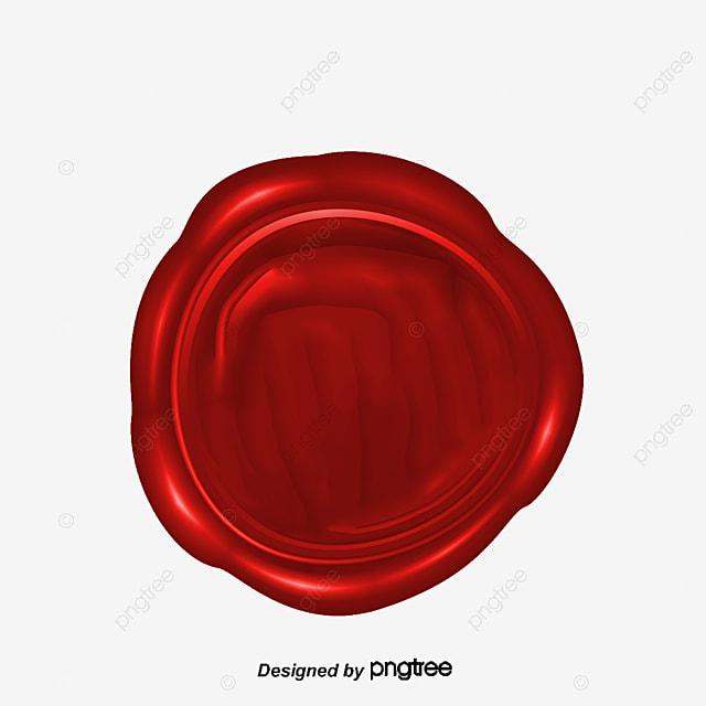rouge de cire de tampon circulaire rouge cire  u00e0 cacheter