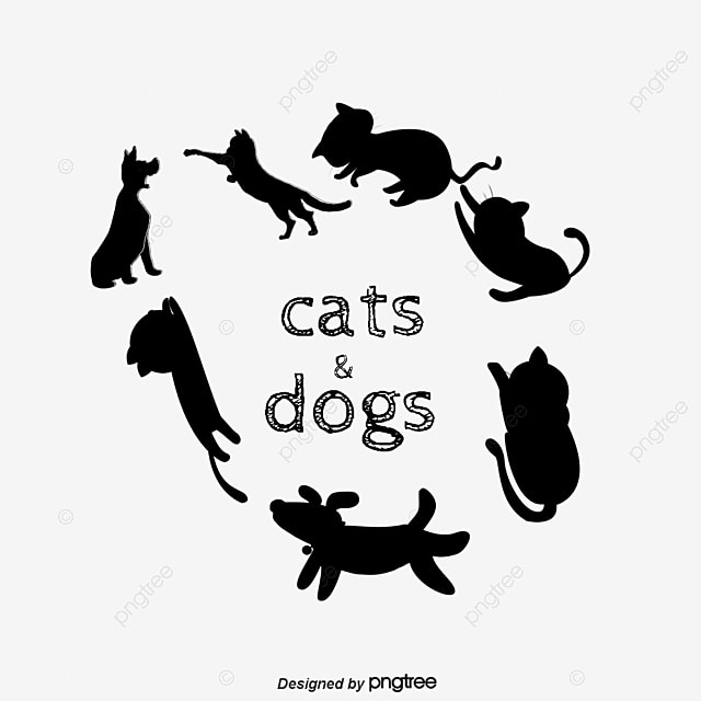 Cats And Dogs Cat Dog Sketch Png Image And Clipart For Free Download