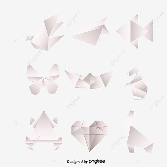 Origami origami divers plantes d 39 animaux png et vecteur - Origami para todos ...