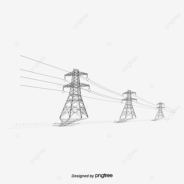 telephone pole  high tension line  pressure column png and