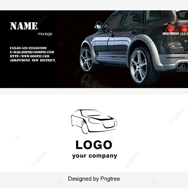Automotive Business Card Card Business Card Template PNG And PSD - Mechanic business cards templates free