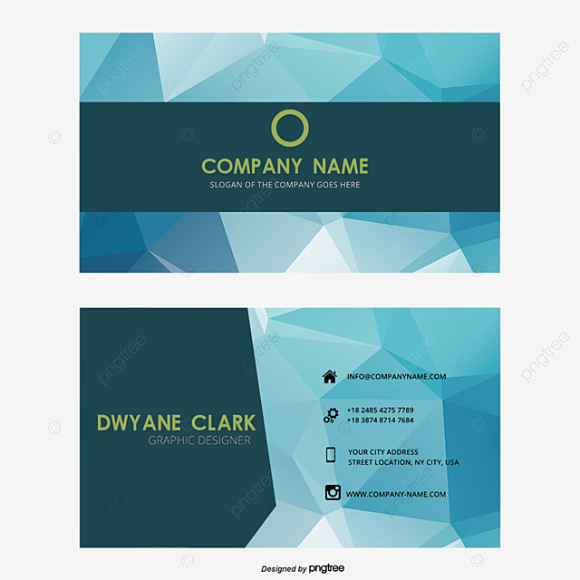Business Card Cards Creative Geometric