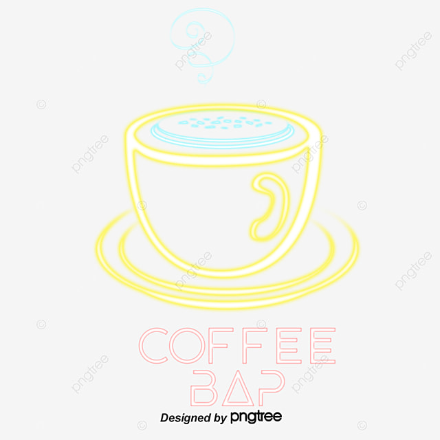 Cafe Neon Night Light PNG And Vector