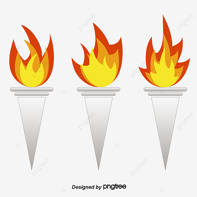 Creative Vector Torch Fire Free PNG And
