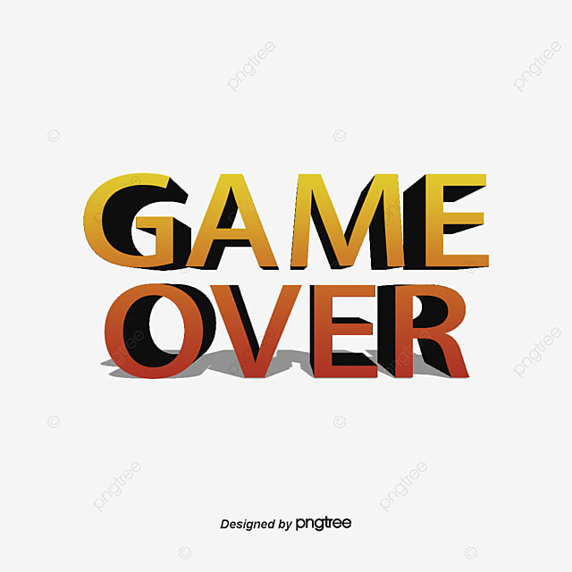 Game Over Png Vector Psd And Clipart With Transparent Background For Free Download Pngtree