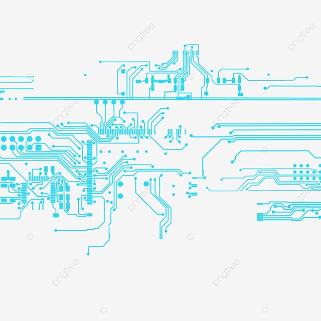 Circuito Eletronico : Circuito eletrônico com luz azul o efeito de a linha