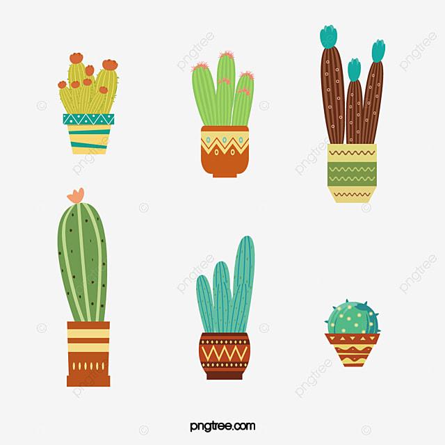 無料ダウンロードのための盆栽サボテン 鉢植え サボテン イラストpng画像素材