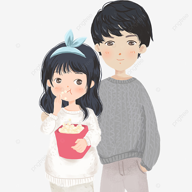 love couple, cartoon, love, cloud png image and clipart for free