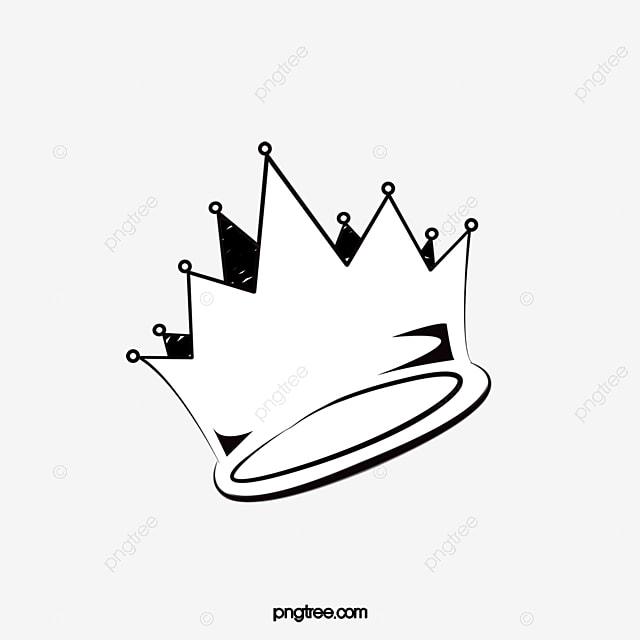 Pintado A Mano En Blanco Y Negro Corona Corona Imperial Corona