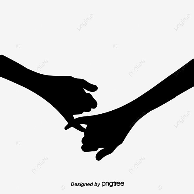 holding hands silhouette retractors hand sketch png image and
