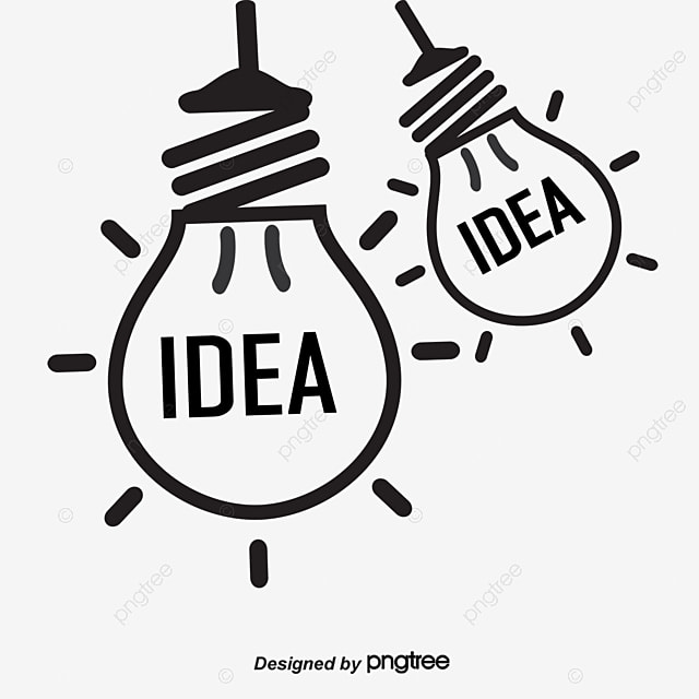 Creative Bulb Light Hand Painted Lamp Vector Free PNG And