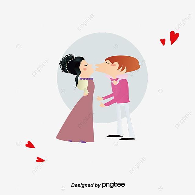 Pareja Cariñosa Amor Pareja De Dibujos Animados Amor Imagen Png Para