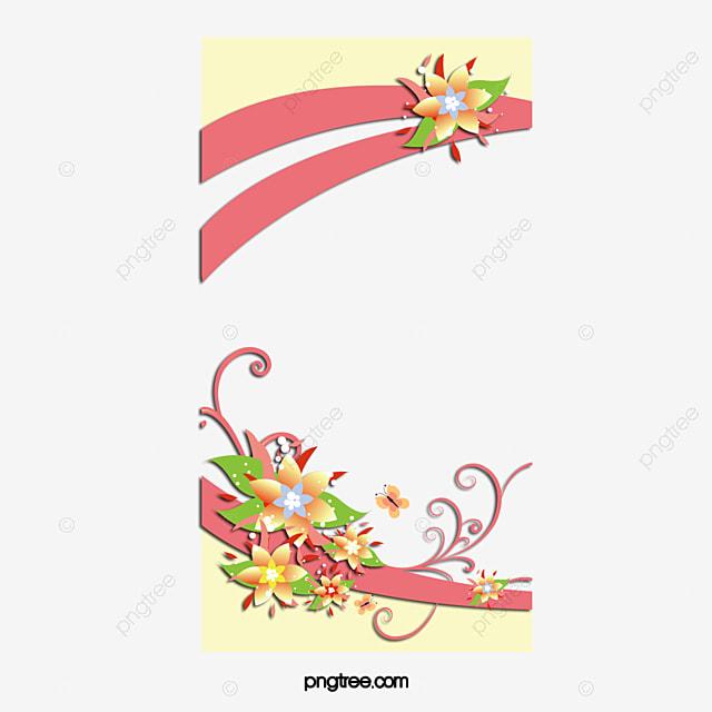 avec une fleur belles fleurs  u00e9l u00e9ments de mariage carte de voeux de mariage png et vecteur pour