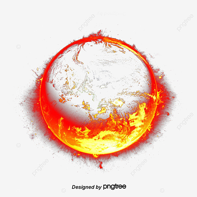 Blue Planet Hell Fire Wallpaper PNG And PSD