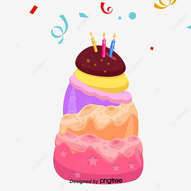 Creative Cakes Birthday Cake Color PNG And Vector