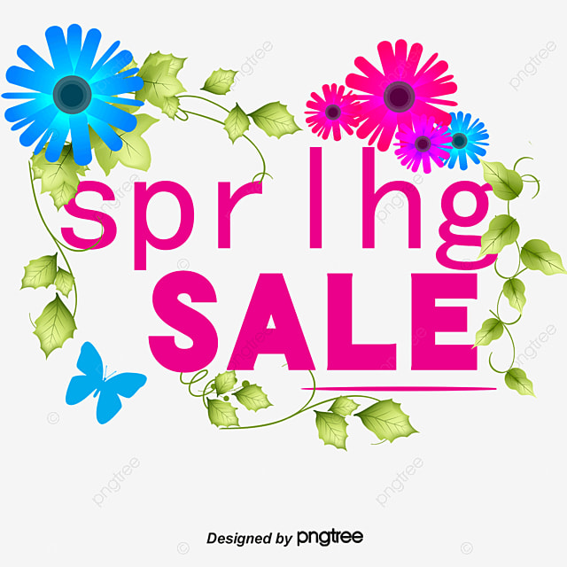 Spring Sale: Beautiful Flowers Vector Spring Sale Tag, Spring Vector