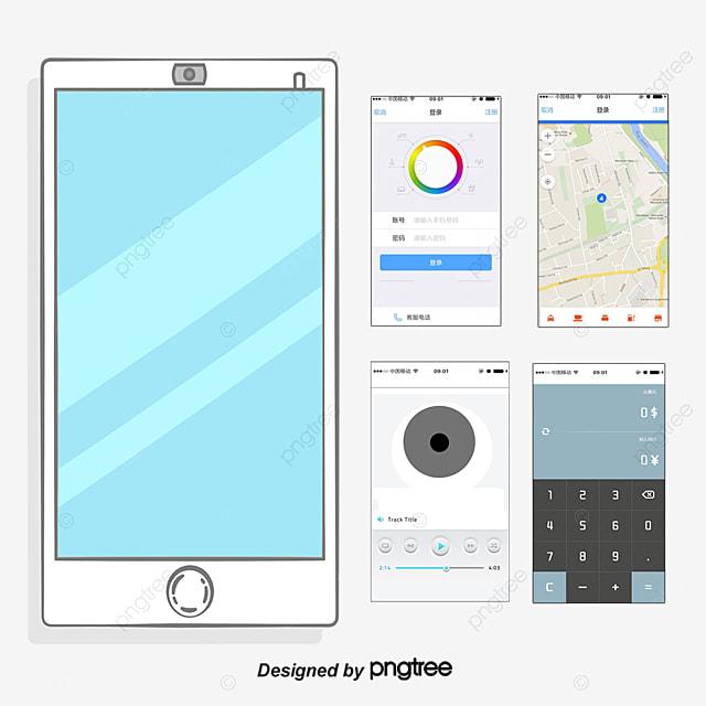 Phone interface APP, UI Design, Mobile Application, Mobile ...