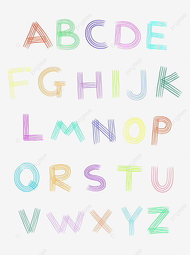 26 English Letters English Alphabet Color Png Image And