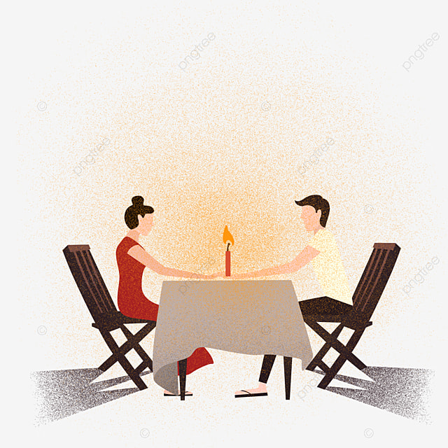 dinner couple dinner clipart dinner lovers png image
