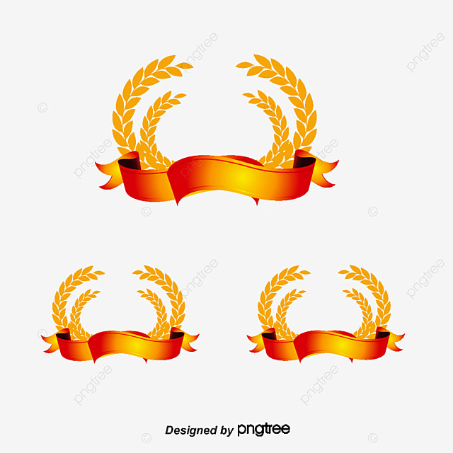 Wheat Badge Golden Wheat Badge Png And Vector For Free