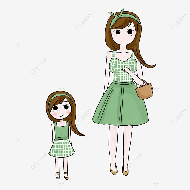 Dessin De La Mère Et La Fille La Mère Et La Fille Dessin