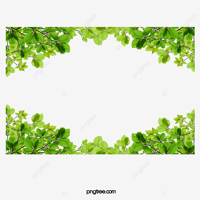 Green Leaves Border, Leaf, Frame, Up And Down PNG Image and Clipart ...