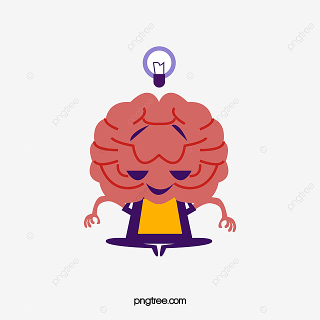 cartoon meditation brain cartoon clipart brain clipart light bulb png and vector with transparent background for free download cartoon meditation brain cartoon