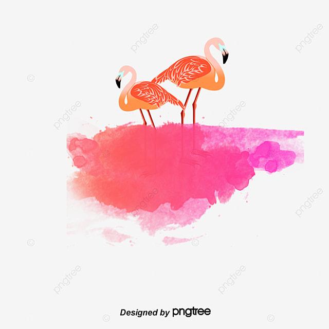 drawing flamingos illustration watercolor flamingos png
