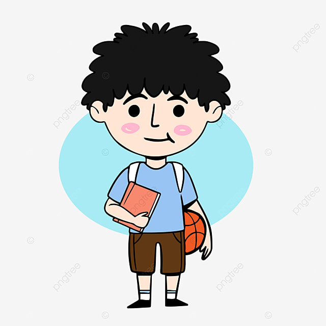 Cartoon student