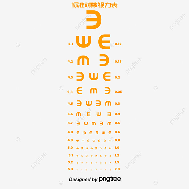 Standard Logarithmic Visual Acuity Chart Eye Myopia Png And Psd