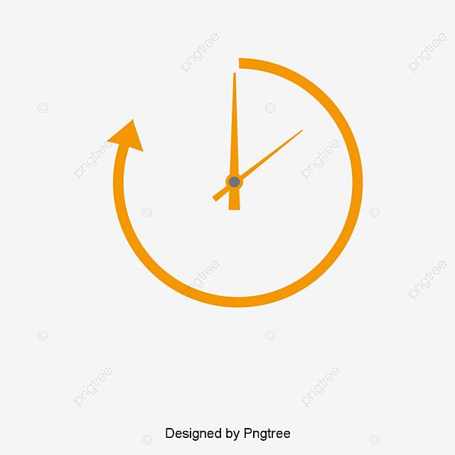 le dessin de l horloge horloge horaire orange fichier png
