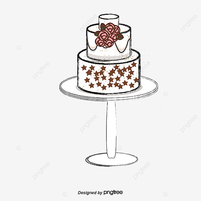 hand-drawn cartoon birthday cake, Cartoon Vector, Birthday Vector, Cake Vector PNG