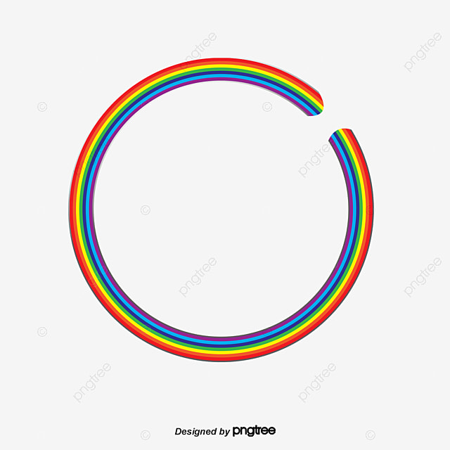 rainbow circle  colorful  circle  fantasy png and vector clipart picture frame vintage clip art picture frames free