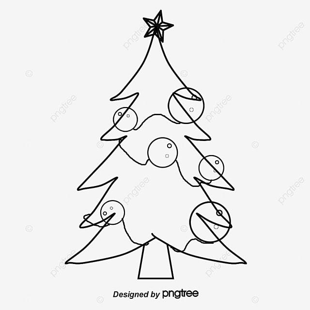 Desenhos De árvore De Natal Decoração Cartoon A árvore De