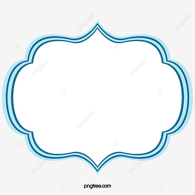 cadre cadre bleu d u00e9coration image png pour le