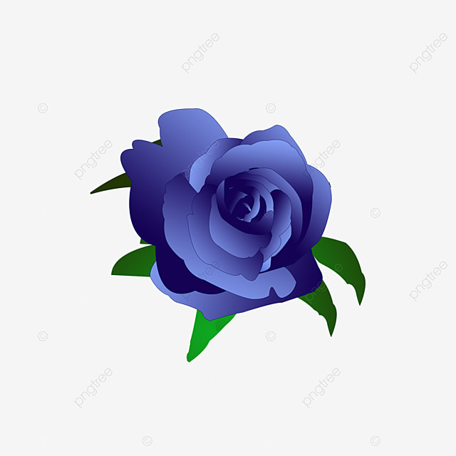 Blue Rose Clipart Flowers Flower PNG Image And