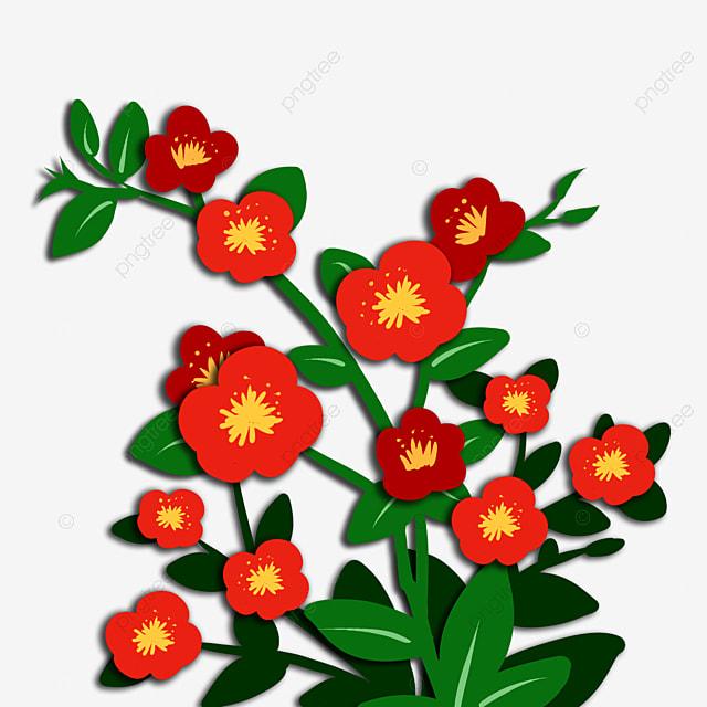 Three Dimensional Flores Rojas Flores Tridimensionales Vector