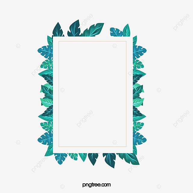 Green Leaves Frame, Green, Leaves, Frame PNG Image and Clipart for ...